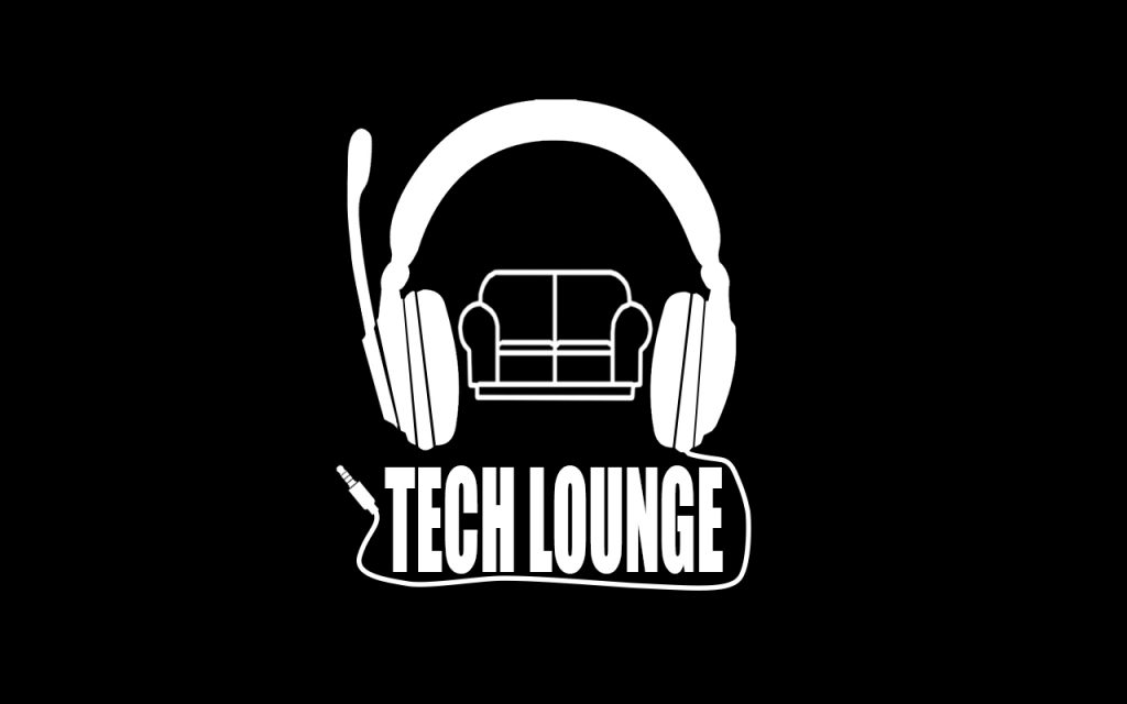 tech lounge logo white on black